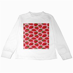Fruitb Red Strawberries Kids Long Sleeve T Shirts