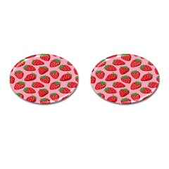 Fruitb Red Strawberries Cufflinks (oval)