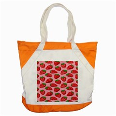 Fruitb Red Strawberries Accent Tote Bag