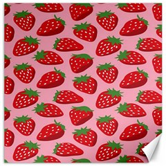 Fruitb Red Strawberries Canvas 12  x 12