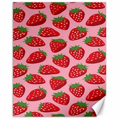 Fruitb Red Strawberries Canvas 11  x 14