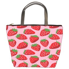Fruitb Red Strawberries Bucket Bags
