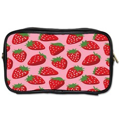 Fruitb Red Strawberries Toiletries Bags