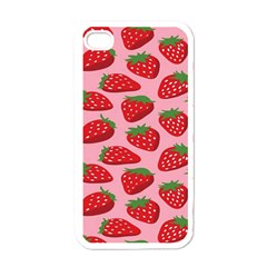 Fruitb Red Strawberries Apple iPhone 4 Case (White)
