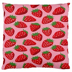 Fruitb Red Strawberries Large Cushion Case (One Side)