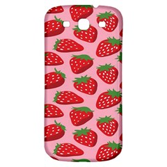 Fruitb Red Strawberries Samsung Galaxy S3 S III Classic Hardshell Back Case