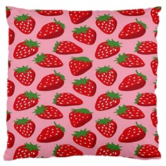 Fruitb Red Strawberries Standard Flano Cushion Case (One Side)