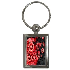Gold Wheels Red Black Key Chains (Rectangle)