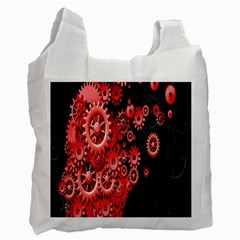 Gold Wheels Red Black Recycle Bag (Two Side)