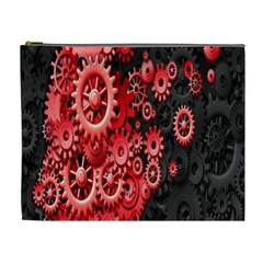 Gold Wheels Red Black Cosmetic Bag (XL)