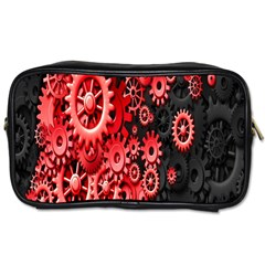 Gold Wheels Red Black Toiletries Bags