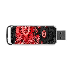 Gold Wheels Red Black Portable USB Flash (Two Sides)