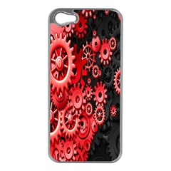 Gold Wheels Red Black Apple iPhone 5 Case (Silver)