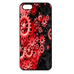Gold Wheels Red Black Apple iPhone 5 Seamless Case (Black)