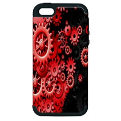 Gold Wheels Red Black Apple iPhone 5 Hardshell Case (PC+Silicone)