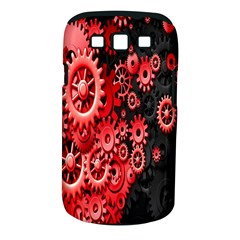 Gold Wheels Red Black Samsung Galaxy S III Classic Hardshell Case (PC+Silicone)