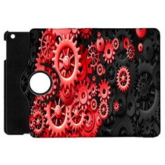 Gold Wheels Red Black Apple iPad Mini Flip 360 Case