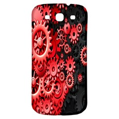 Gold Wheels Red Black Samsung Galaxy S3 S III Classic Hardshell Back Case