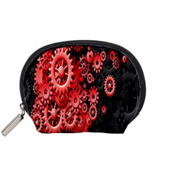 Gold Wheels Red Black Accessory Pouches (Small)