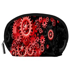 Gold Wheels Red Black Accessory Pouches (Large)