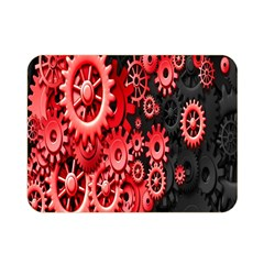 Gold Wheels Red Black Double Sided Flano Blanket (Mini)