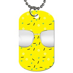 Glasses Yellow Dog Tag (One Side)