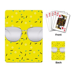 Glasses Yellow Playing Card