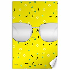 Glasses Yellow Canvas 24  x 36