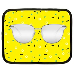 Glasses Yellow Netbook Case (large)