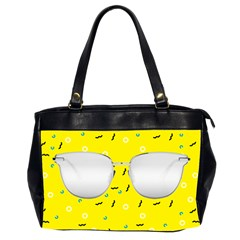 Glasses Yellow Office Handbags (2 Sides)