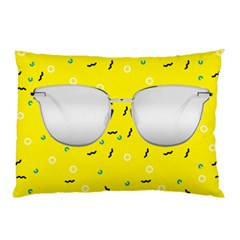Glasses Yellow Pillow Case (Two Sides)