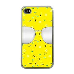 Glasses Yellow Apple iPhone 4 Case (Clear)