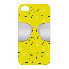 Glasses Yellow Apple iPhone 4/4S Hardshell Case