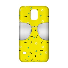 Glasses Yellow Samsung Galaxy S5 Hardshell Case