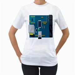 Amphisbaena Two Platform Dtn Node Vector File Women s T Shirt (white) (two Sided)