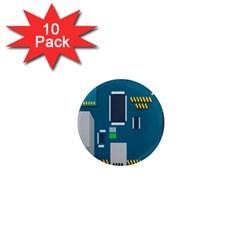 Amphisbaena Two Platform Dtn Node Vector File 1  Mini Magnet (10 pack)