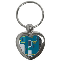 Amphisbaena Two Platform Dtn Node Vector File Key Chains (Heart)