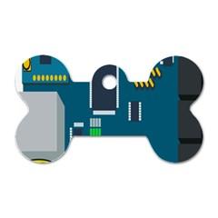 Amphisbaena Two Platform Dtn Node Vector File Dog Tag Bone (One Side)