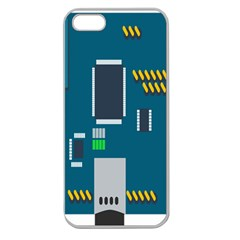 Amphisbaena Two Platform Dtn Node Vector File Apple Seamless iPhone 5 Case (Clear)