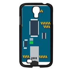 Amphisbaena Two Platform Dtn Node Vector File Samsung Galaxy S4 I9500/ I9505 Case (Black)