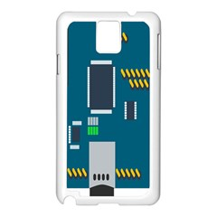 Amphisbaena Two Platform Dtn Node Vector File Samsung Galaxy Note 3 N9005 Case (White)