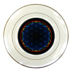 Flower Of Life Porcelain Plates