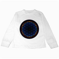 Flower Of Life Kids Long Sleeve T Shirts