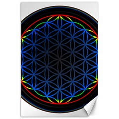 Flower Of Life Canvas 24  X 36