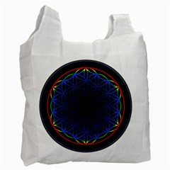 Flower Of Life Recycle Bag (one Side)