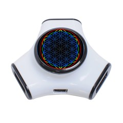 Flower Of Life 3 Port Usb Hub