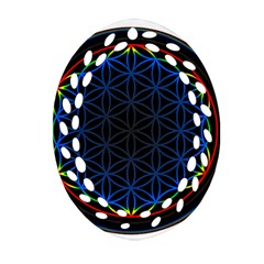 Flower Of Life Oval Filigree Ornament (two Sides)