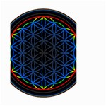 Flower Of Life Small Garden Flag (Two Sides) Back