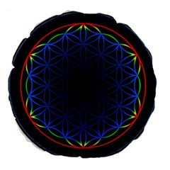 Flower Of Life Large 18  Premium Round Cushions