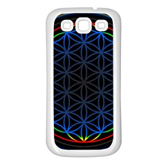 Flower Of Life Samsung Galaxy S3 Back Case (White)